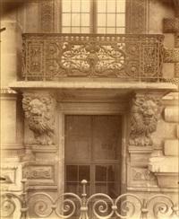 intérieur, ancien hôtel dit de sartine, 21 rue du cherche-midi, paris by eugène atget