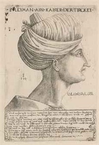 a portrait of sultan suleyman the magnificent by hieronymus hopfer