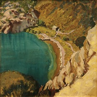 the blue lake, mount gambier by maxwell richard christopher ragless