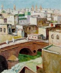 pont sur l'oued, les andalous, fez by albert lepreux