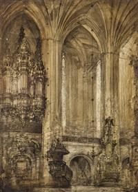 wnętrze kościoła mariackiego w toruniu by henryk dabrowski