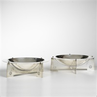 courtney centerpiece bowls (pair) by charles gwathmey