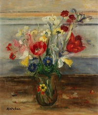 nature morte au bouquet by isaac antcher