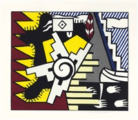 american indian theme ii (from american indian theme) by roy lichtenstein