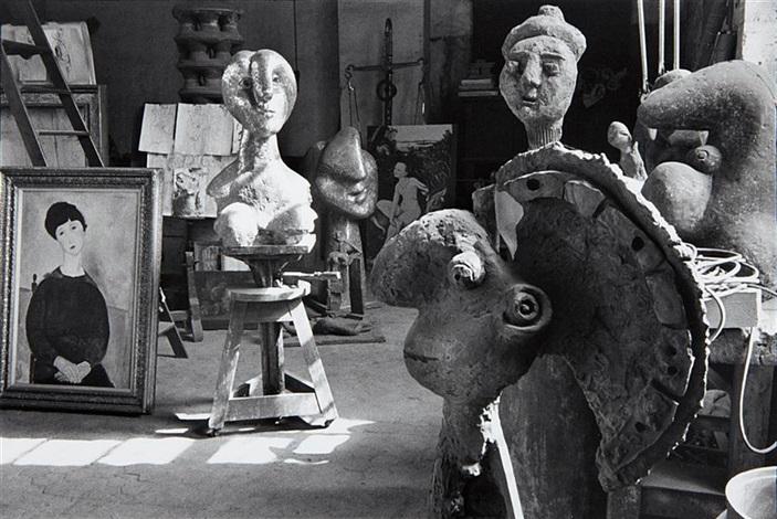 atelier de pablo picasso rue des grands augustins paris by henri cartier bresson