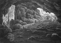 cave of pan near vari by edward dodwell