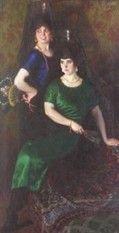 les deux espagnoles à mantilles by r. angeles
