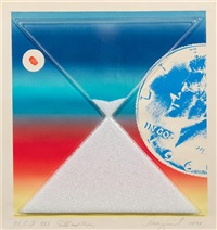 earth and moon (from cold light series) by james rosenquist