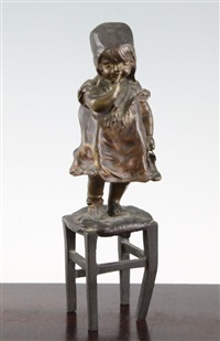 girl standing on stool by juan clara