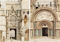 palazzo ducale; basilica di san marco (2 works) by lemmo rossi scotti