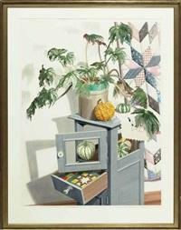 blue cabinet by sondra freckelton