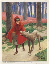 red riding hood by john hassall