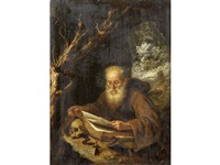 saint jerome in the wilderness by gerrit dou
