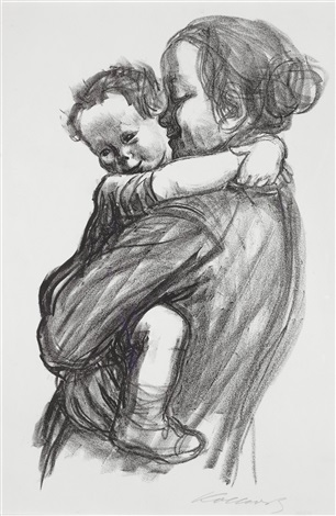 mother with boy by käthe kollwitz