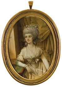portrait miniature of fanny burney by john bogle