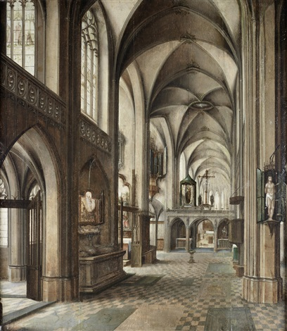 a church interior by peeter neeffs the elder