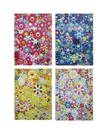 an homage monogold 1960 c and other prints 4 works by takashi murakami