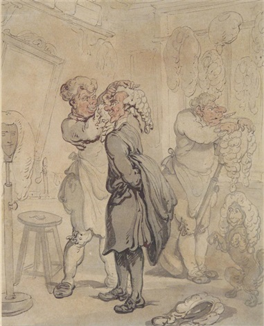 the wig maker by thomas rowlandson