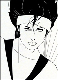 female for piedmont graphics by patrick nagel