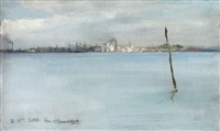 pool harbor, dorset by george percy r. e. jacomb-hood