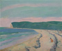 beach scene by hermann konnerth