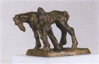 man en paard by idel ianchelevici