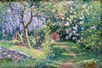 printemps au jardin by maurice bismuth lemaître