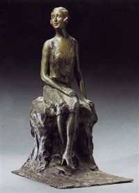 dame assise by baron constantin rausch de traubenberg