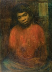portrait of an aborigine girl by alan william baker