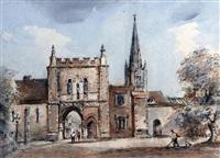 bishops gate, norwich by arthur edward davies