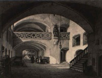 klosterszene by simon quaglio