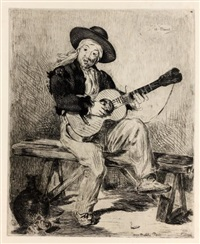 le chanteur espagnol ou le guitarrero by édouard manet
