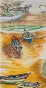 boats at gran canaria by barbara warren