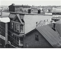 rooftops, 21st avenue & king street, paterson, new jersey by george tice