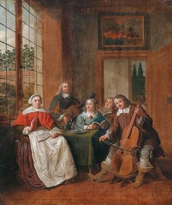 Musizierende gesellschaft in einem interieur by jan josef for Horemans interieur