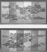 scene from the tale of genji by japanese school-kano (19)