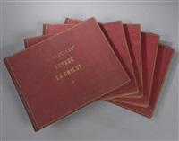 voyage en orient. villes, monuments et vues pittoresques (6 albums w/222 works) by louis de clercq