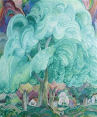le village dans la forêt by raymond quibel