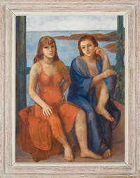 two women, ogunquit by bernard karfiol