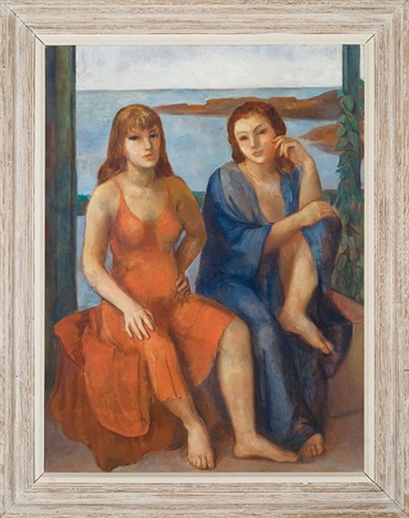 two women ogunquit by bernard karfiol