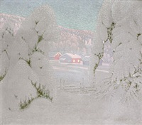 under snötyngda granar by bror lind