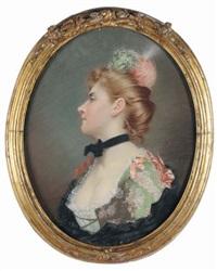 ritratto di gentildonna by françois brunery