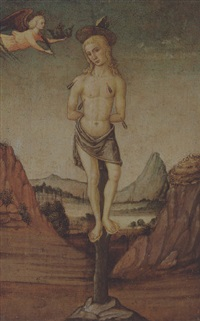 the martyrdom of saint sebatian by master of san miniato