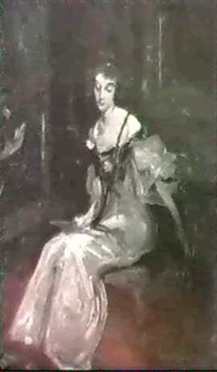 lady in green dress by dewitt mcclellan lockman