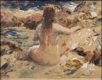 nude on a beach by vladimir pavlosky