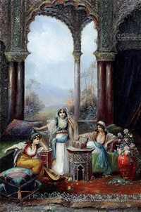 a turkish harem by l. luini