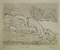 father asleep by leon kossoff