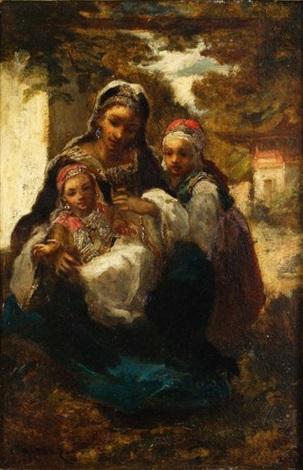 famille orientale by narcisse virgile diaz de la peña