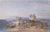 italian lakeland harbour scenes by william leighton leitch