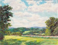 hillside pasture (+ lily pond; 2 works) by william f. heffernan